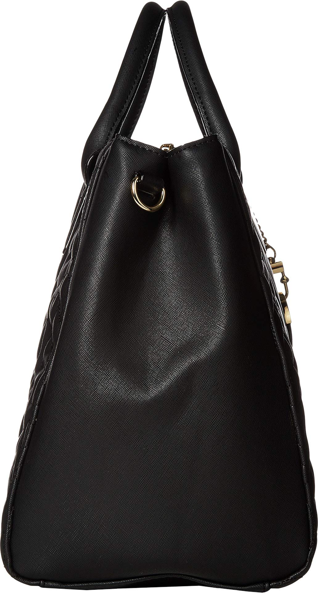 Betsey Johnson Women's Structured Quilt Satchel Black One Size by Betsey Johnson (Image #3)