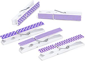 Darice 30029495 Lavender Finish Printed Large Clothespins, Purple, 12 Piece
