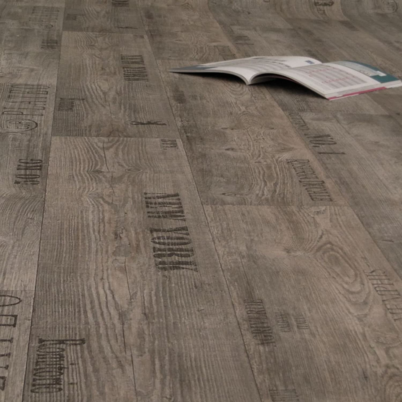 Breite: 200 cm x L/änge: 150 cm 11,90 /€ p. m/² PVC Bodenbelag Rustikal Grau mit Aufdruck