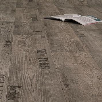 GroBartig PVC Bodenbelag Rustikal Grau Mit Aufdruck Breite 3 M (9,95 EUR Pro M²