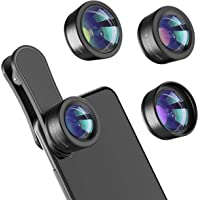 Leknes 3 in 1 Phone Camera Lens Kit Compatible with iPhone, iPad, Most Android Phones & Smartphones