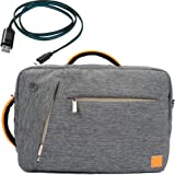 """Gray VanGoddy Premium Fashion Briefcase Messenger Backpack Shoulder Bag for Lenovo Thinkpad T460 14"""" / P50S / T560 / L560 15.6"""" + Micro USB Cable"""