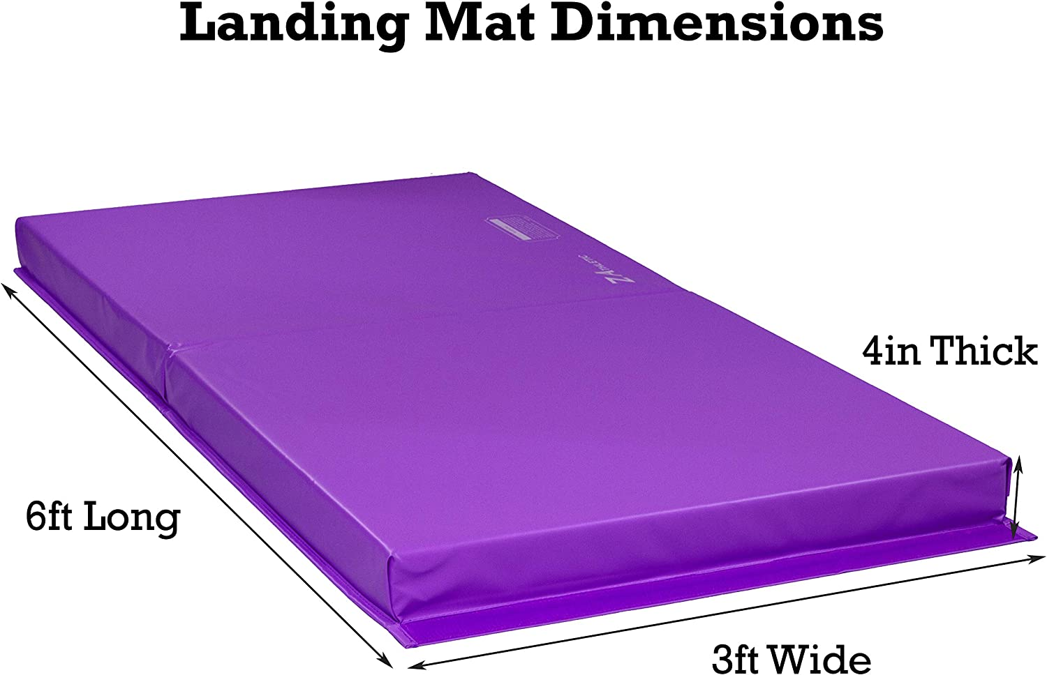 Martial Arts Multiple Colors and Sizes Tumbling Z ATHLETIC Landing Crash Mat Open Cell for Gymnastics