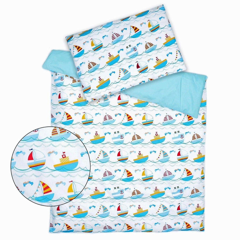 Bunte Herzen Baby Kinder Bettw/äsche 2.tlg 100x135 Bettw/äsche 100/% Baumwolle Bettset zweiseitig