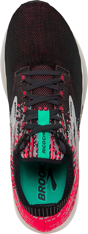 Brooks Womens Ricochet Running Shoe Pink/Black/Aqua