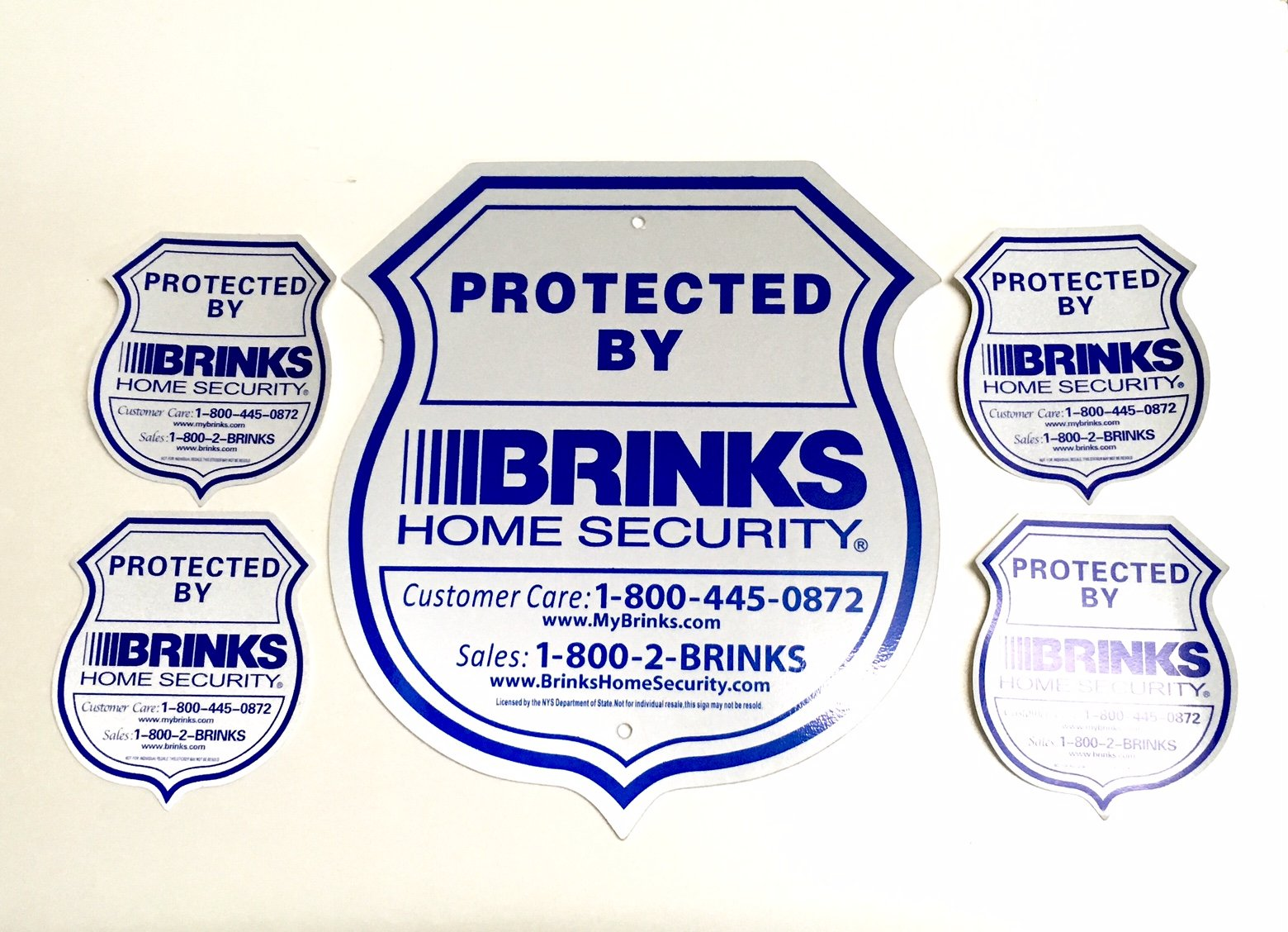 Home Alarm Security Reflective Sign and Window Decal Stickers