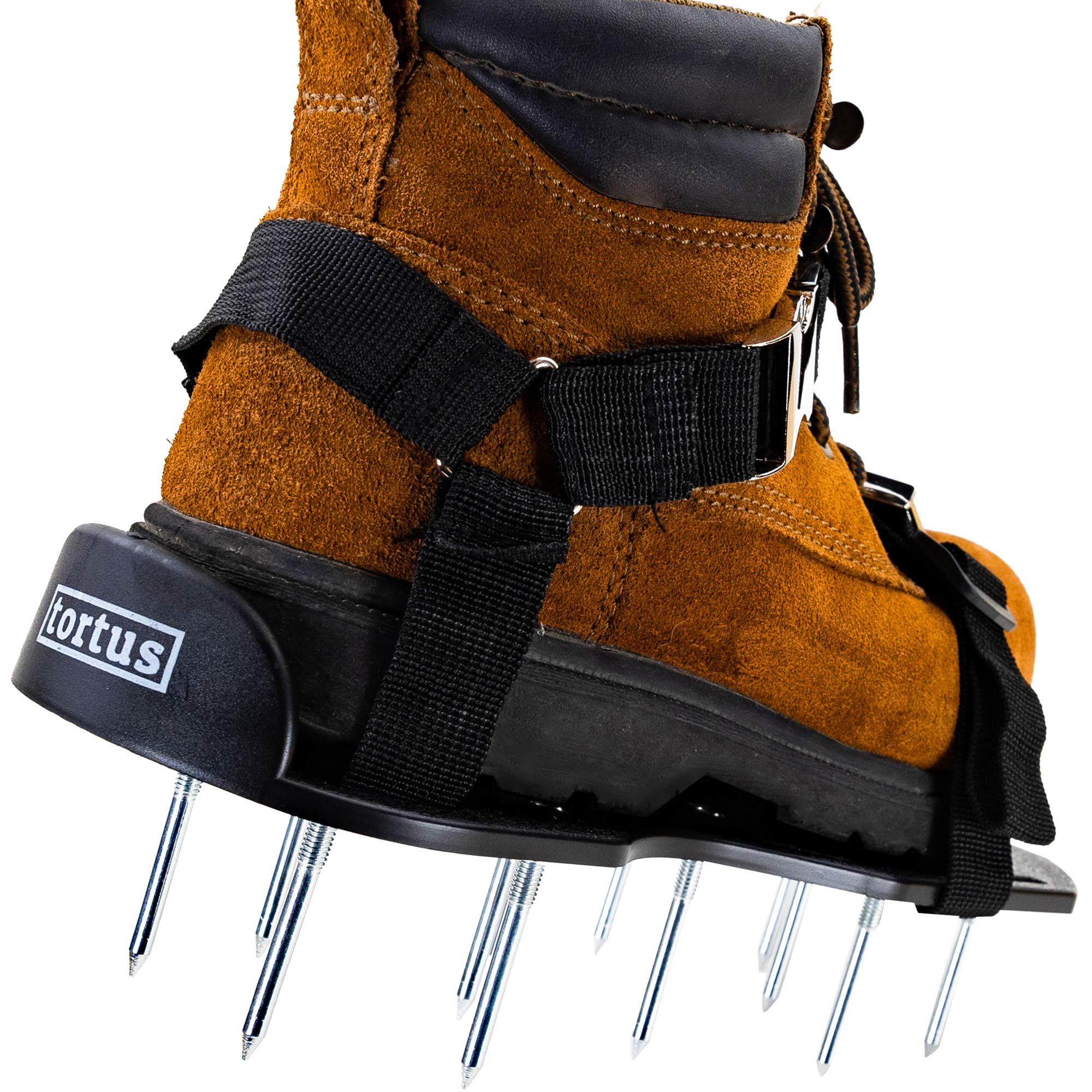 Tortus Lawn Aerator Shoes With 2.5 Inch Spikes - Aerating Spike Shoes For Lawns - Smart Strapping System - Longer Nails - Replacement Parts - Aerate Lawn, Soil & Grass - Secure Unisex Aeration Tools by tortus
