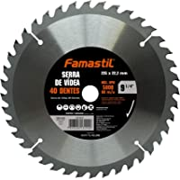 "Serra de Vídea Famastil – 9 1/4"" – 235 x 22,2mm – 40 Dentes – Lâmina de Serra Circular para acabamentos em MDF…"