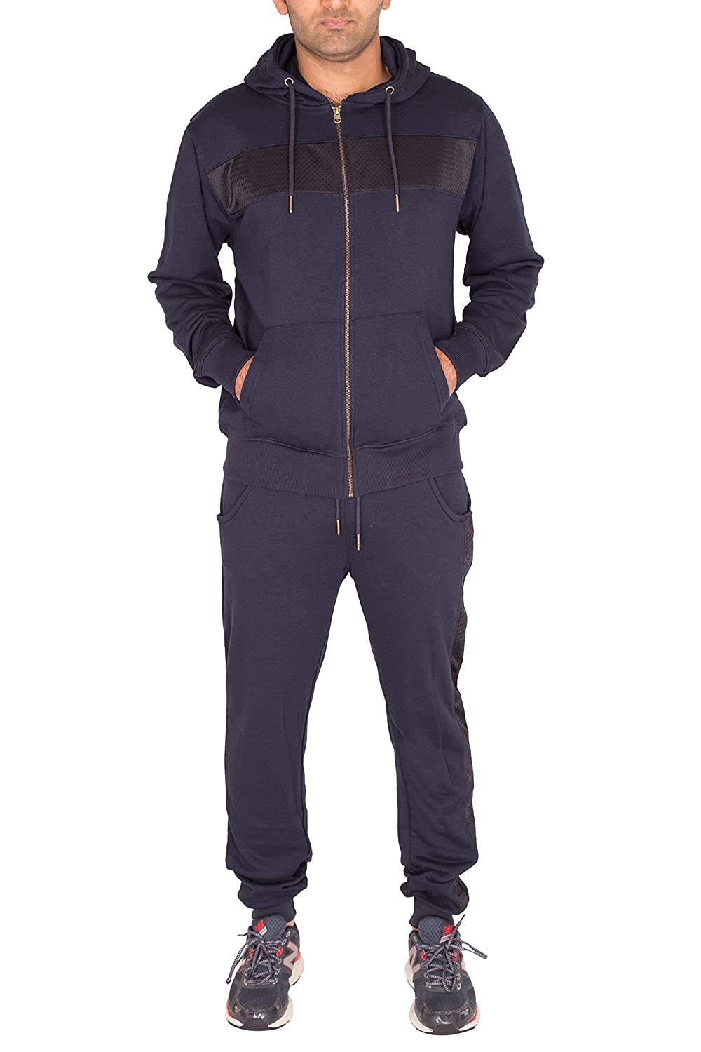 Noroze Mens Mesh Panel Tracksuit Joggers Full Set