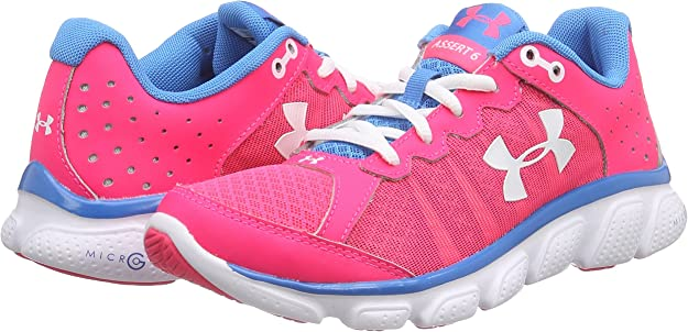 Under ArmourUA W Micro G Assert 6 - Zapatillas de Running Mujer, color Rosa HYR/DOB/WHT 962, talla 36 EU 3 UK: Amazon.es: Zapatos y complementos