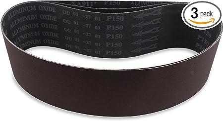 """10 50-GRIT PACK PREMIUM  A//O X-WEIGHT  SANDING  BELTS  4/"""" X 36/"""""""