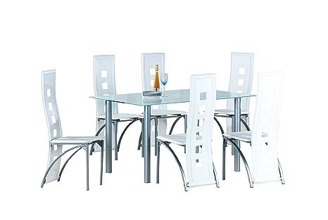 Sedie In Metallo E Plastica : Avanti trendstore melide set con tavolo e sedie a struttura