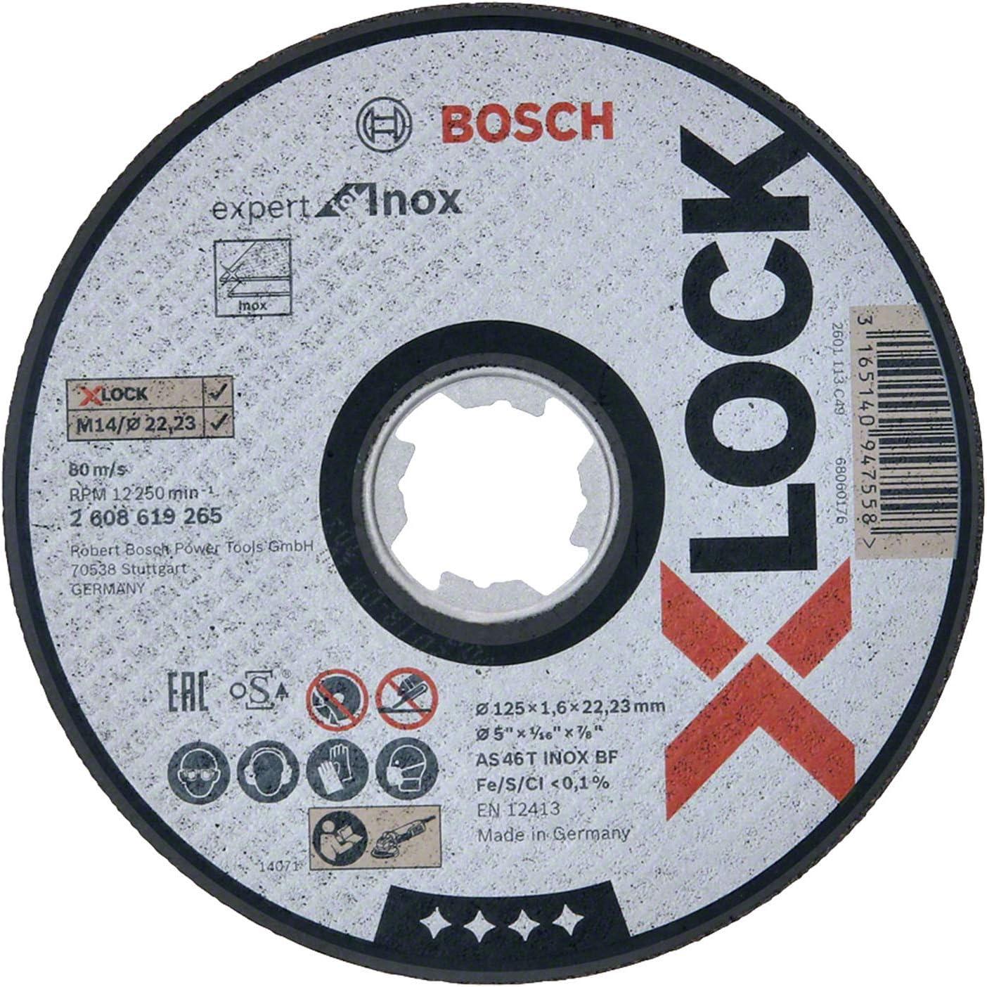pour les m/étaux//linox, X-LOCK, R780, /Ø/125/mm, Grain 80, Al/ésage/: 22,23/mm Bosch Professional 2608619186 Disques Abrasifs sur Fibres Best for Metal /& Inox