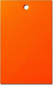 500 x Orange Preisschild Etikett Karte Hang Tag 70mm x 45mm