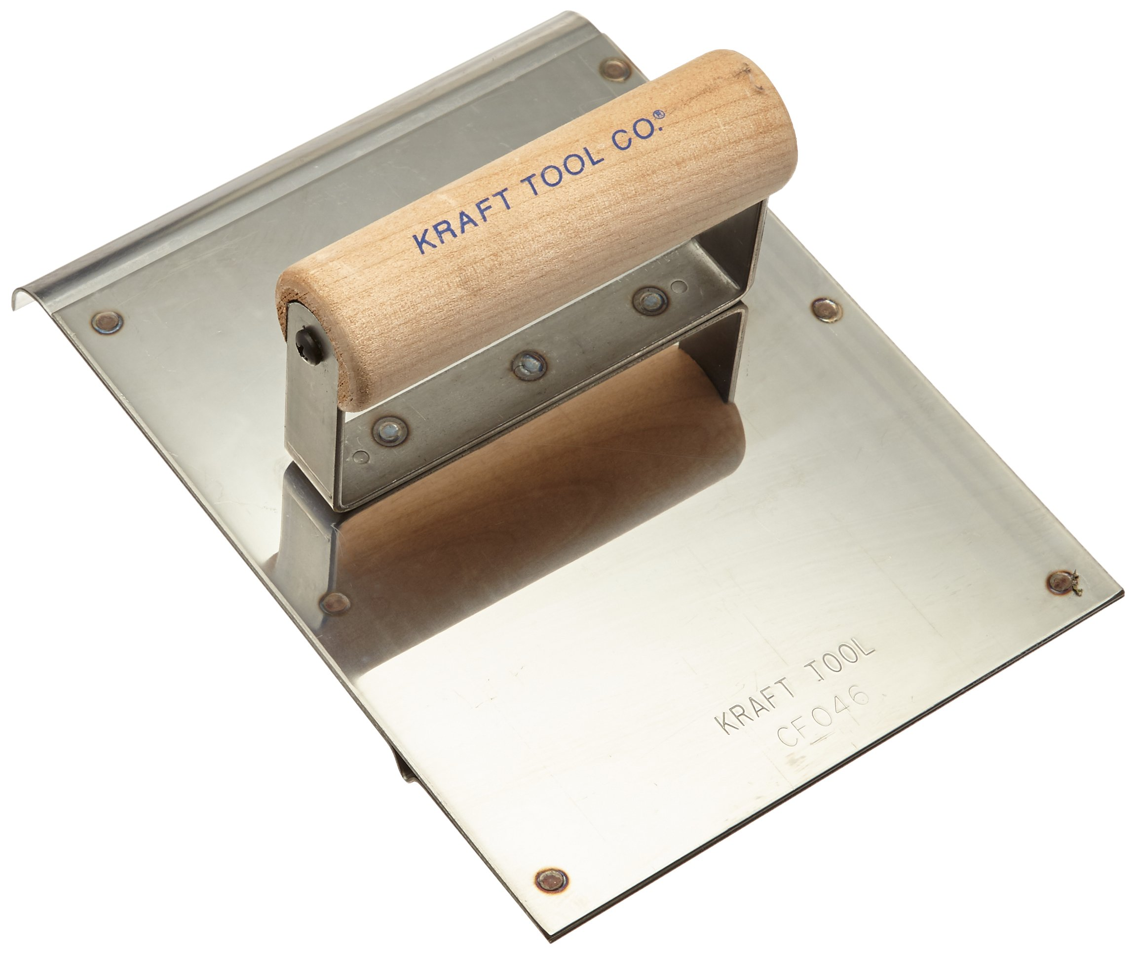 Kraft Tool CF046 Stainless Steel Hand Edger/Groover 1/2-Inch Radius with Wood Handle, 6 x 8-Inch