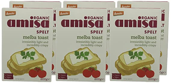 Amazon.com: Amisa Organic Spelt Melba Toasts 200 g (Pack of 6): Computers & Accessories