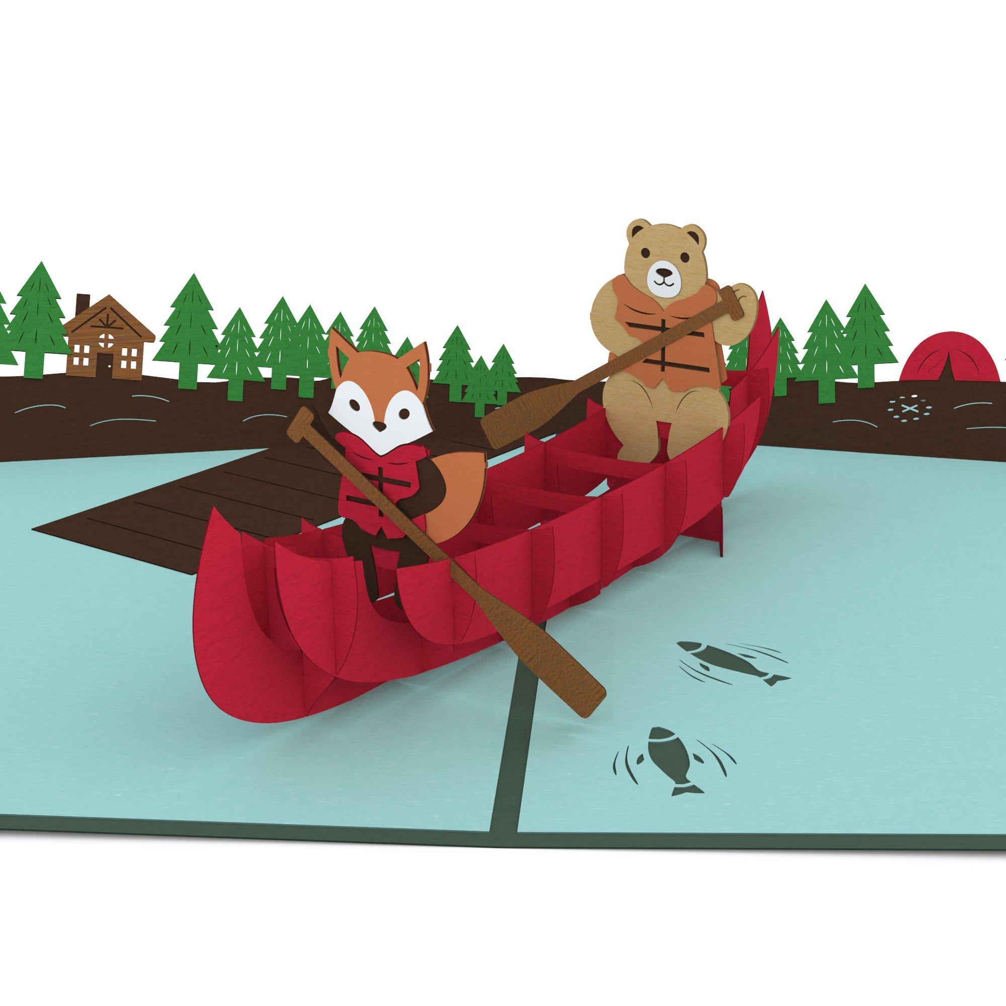 Lovepop Canoe Pop Up Card, 3D Card, Birthday Day Card, Outdoors Card