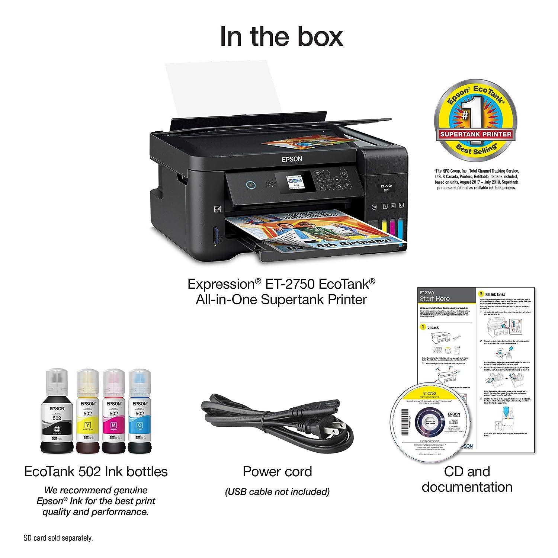 Epson Expression ET-2750 EcoTank Impresora inalámbrica a ...