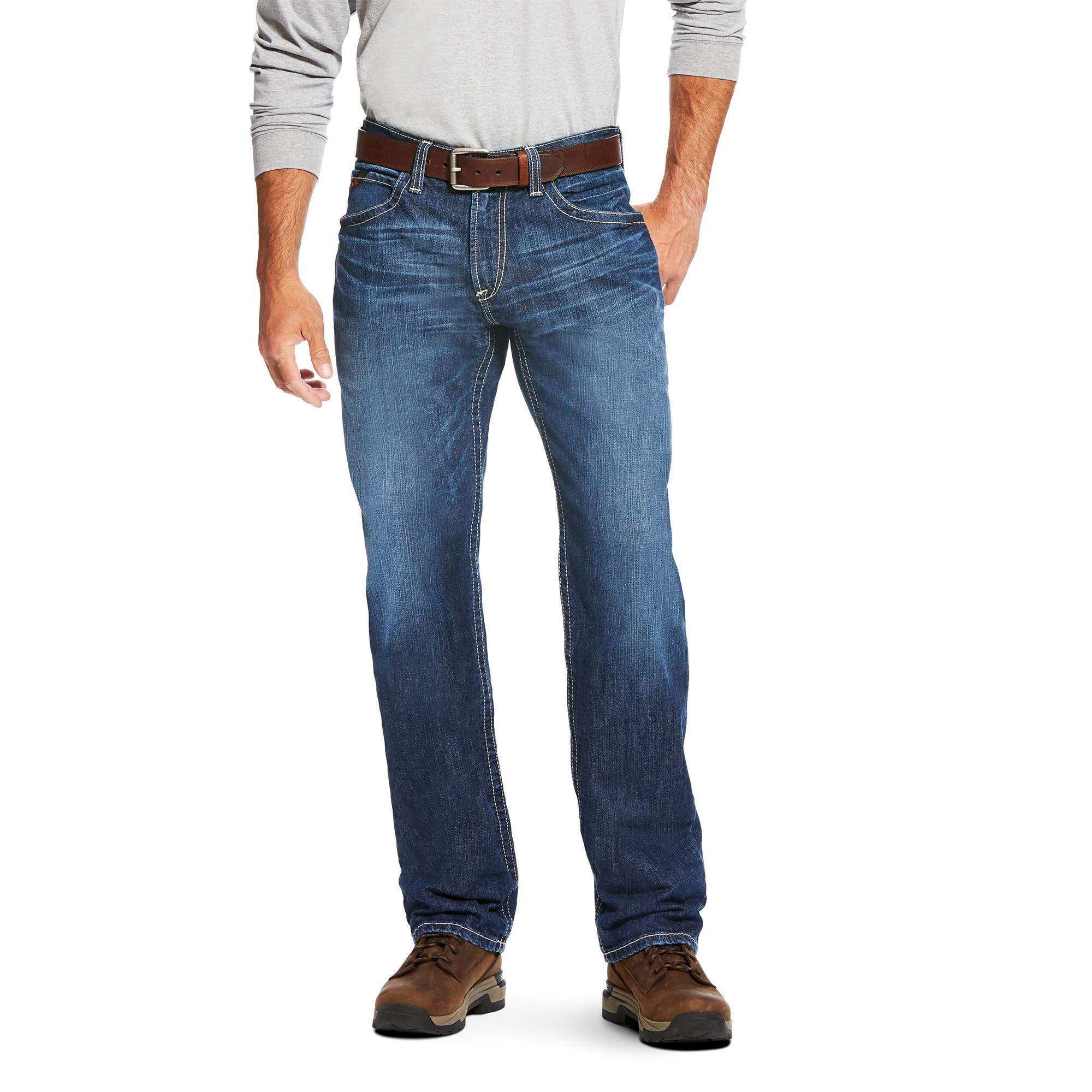ARIAT Men's Fr M3 Loose Vortex Stackable Straight Leg Jean Titanium Size 30W X 36L