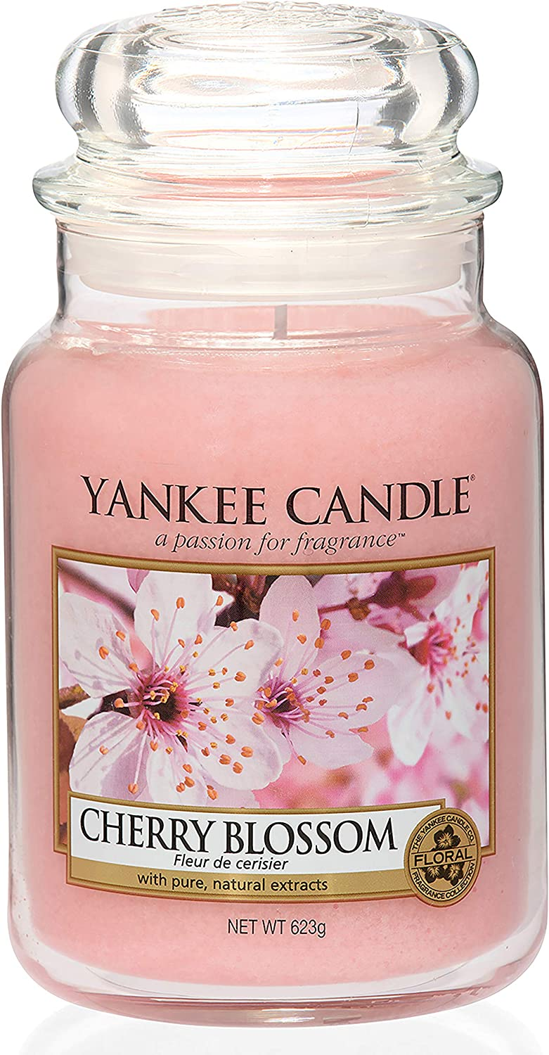 Yankee Candle Cherry Blossom Large Jar Candle, Pink