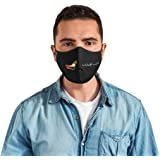 reusable washable cotton fabric UAE Flag Mask Face Masks Men Scarf for kids teenager and adults black breathable Sports…