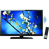 SuperSonic 1080p LED Widescreen HDTV with HDMI Input, AC/DC Compatible for RVs and Built-in DVD Player, 22-Inch