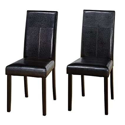 Delicieux Target Marketing Systems Bettega Parson Collection Modern Armless PU  Leather Upholstered Dining Room Chair, Set