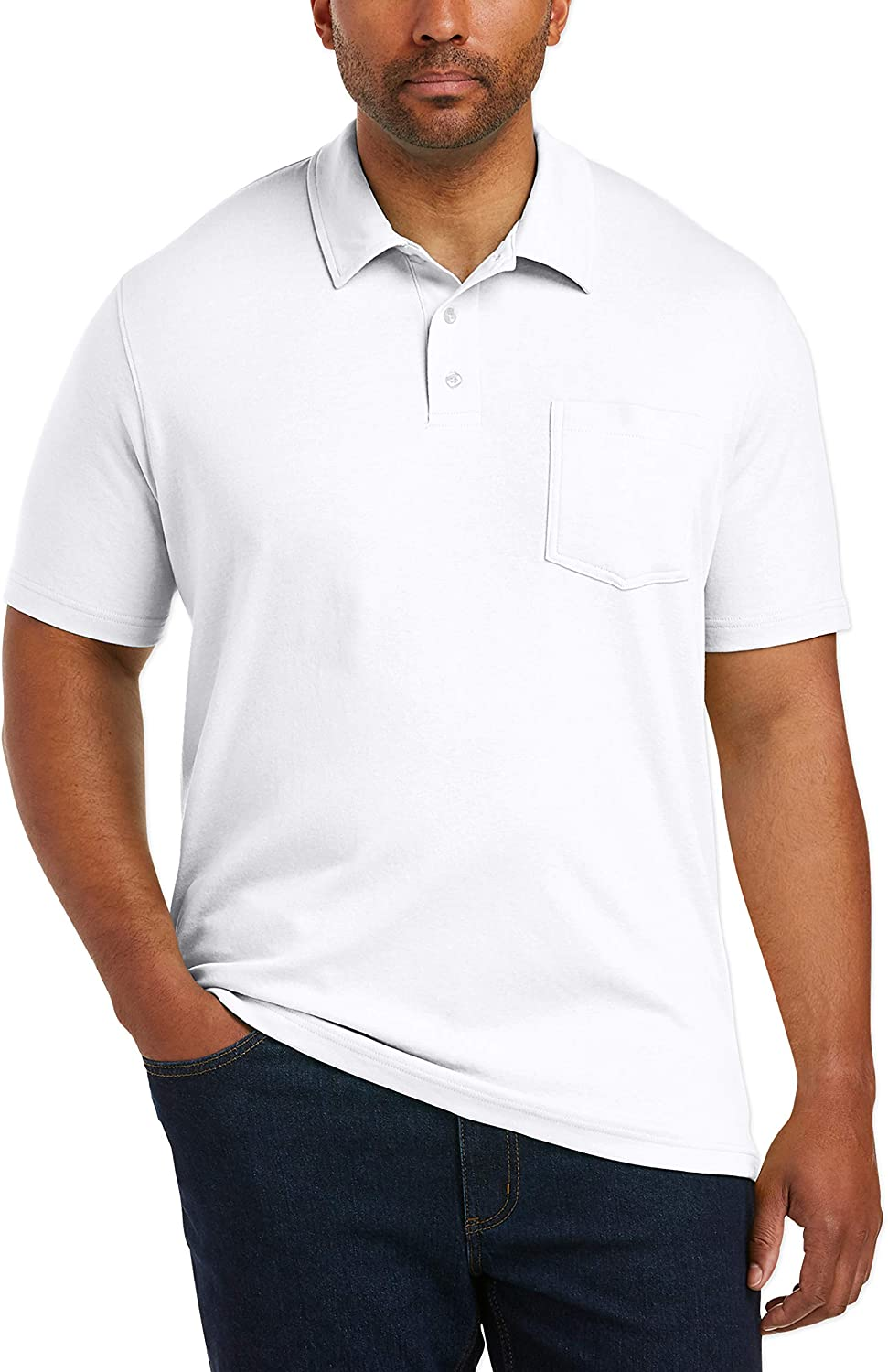 Essentials Mens Big & Tall Jersey Polo Shirt fit by DXL Polos Big ...