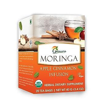 0e21670a5ab Grenera Moringa Apple Cinnamon Infusion/Tea -20 Tea Bags/Box - USDA  Certified