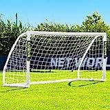FORZA 8 x 4 Match Soccer Goal Post | 8ft x 4ft Soccer Goals for Junior Matches or Backyard Games | Soccer Training Equipment