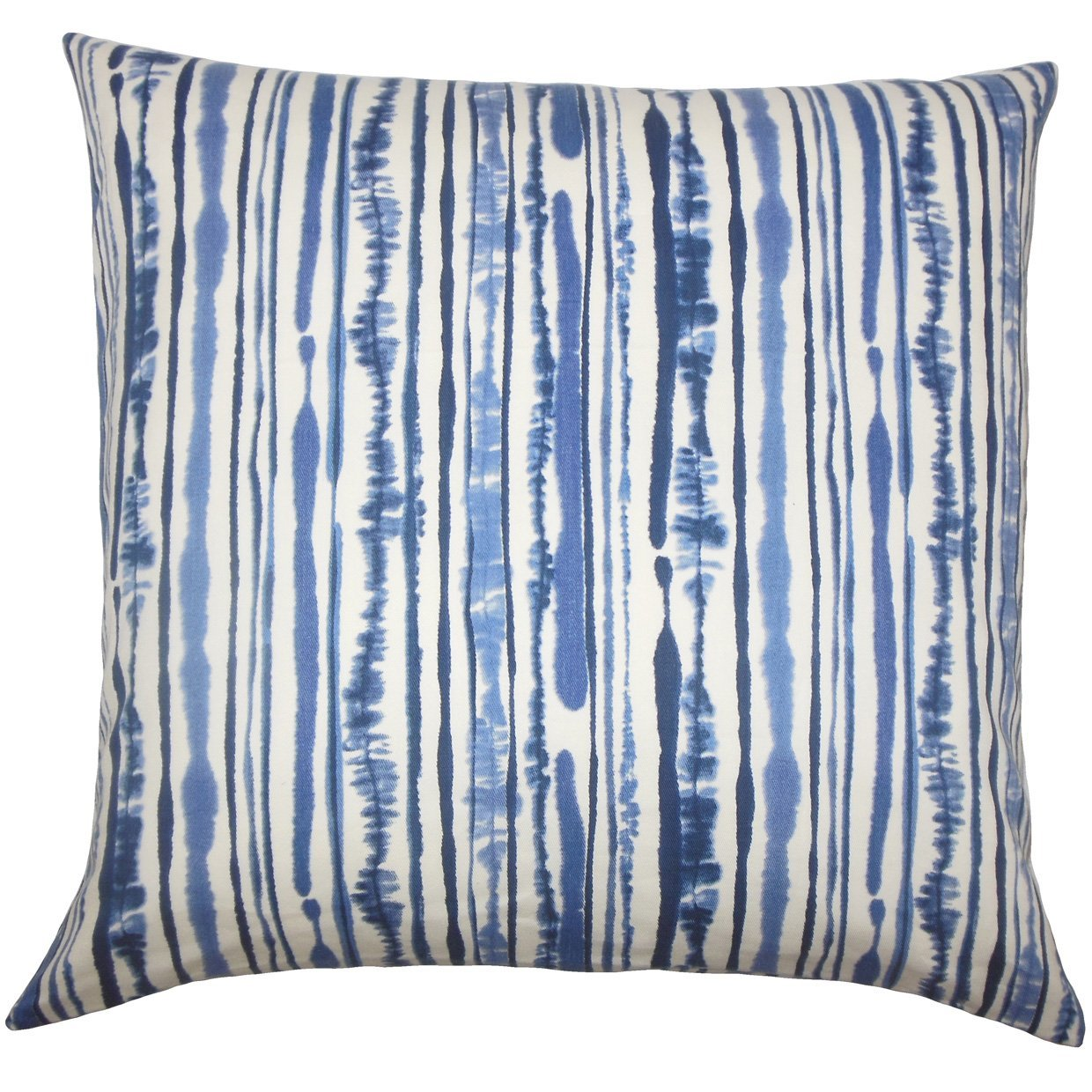 The Pillow Collection Jumoke Striped Bedding Sham Navy Queen//20 x 30