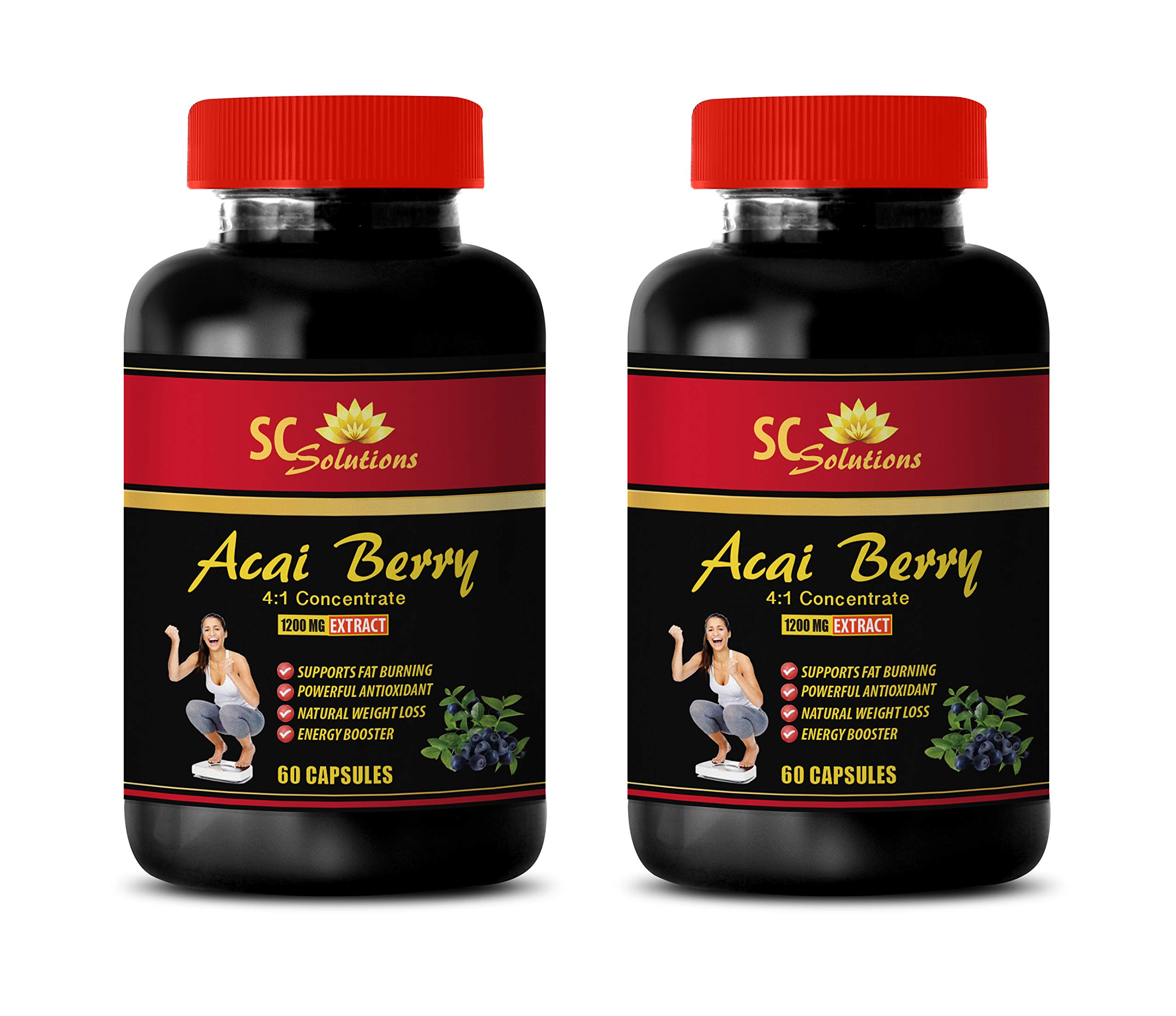 Immune Support for Women - ACAI Berry Extract 1200 Mg - acai Extreme - 2 Bottles (120 Capsules)