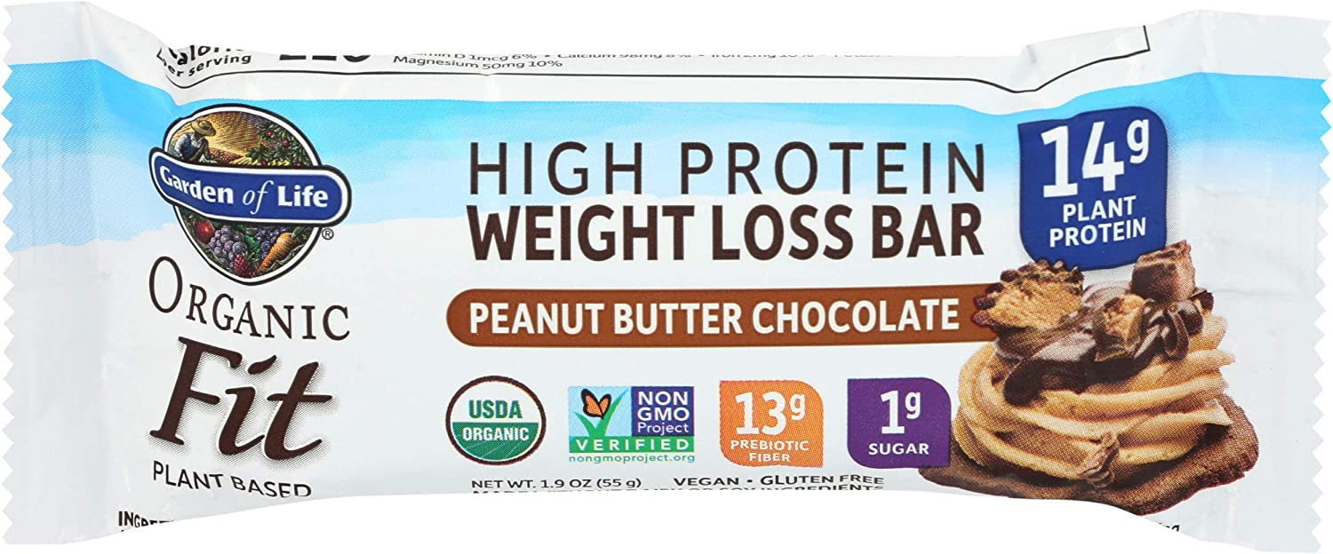 GARDEN OF LIFE Bar Peanut Butter Chocolate Fit High Protein Og, 1.9 OZ