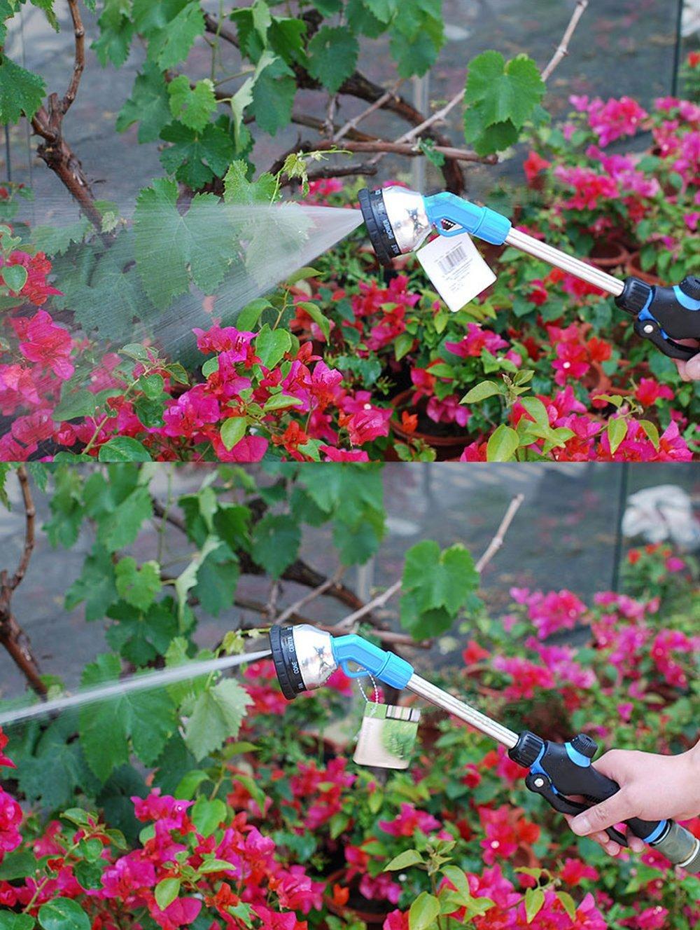MyLifeUNIT Garden Dramm Watering Wand Hose, Aluminium Water Wand 9 Pattern, 16 Inch by MyLifeUNIT (Image #3)