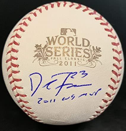 55463ad6e65 David Freese Autographed Signed Memorabilia 2011 World Series Baseball  Cardinals PSA DNA at Amazon s Sports Collectibles Store