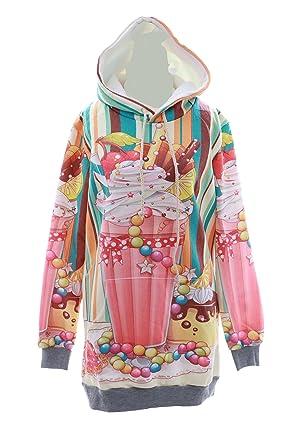 marque célèbre magasiner pour l'original vaste gamme de Kawaii-Story - Sweat à Capuche - Femme Multicolore ...