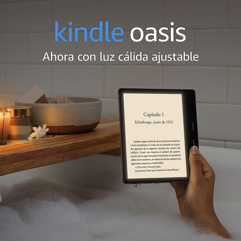 Kindle Oasis, ahora con luz cálida ajustable, resistente al agua, 32 GB, wifi, grafito