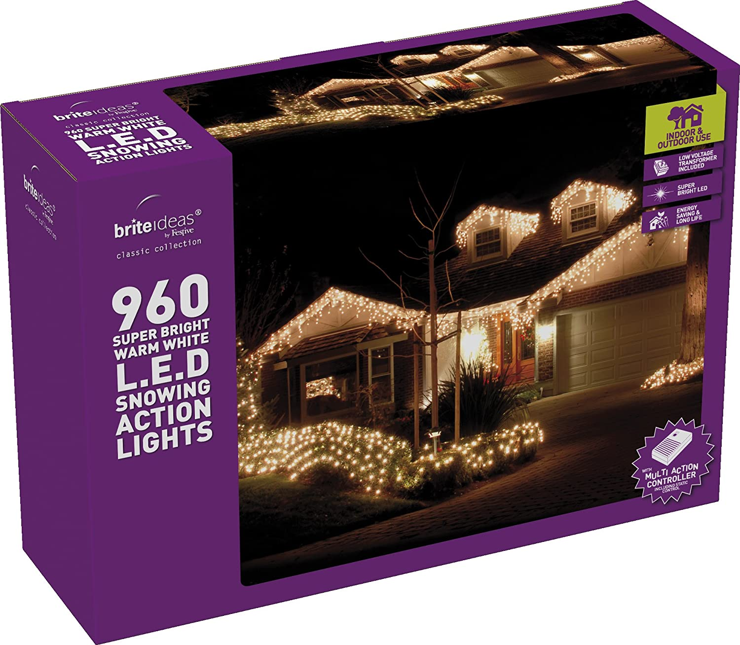 Festive productions snowing icicle 960 led lights warm white festive productions snowing icicle 960 led lights warm white amazon lighting mozeypictures Choice Image