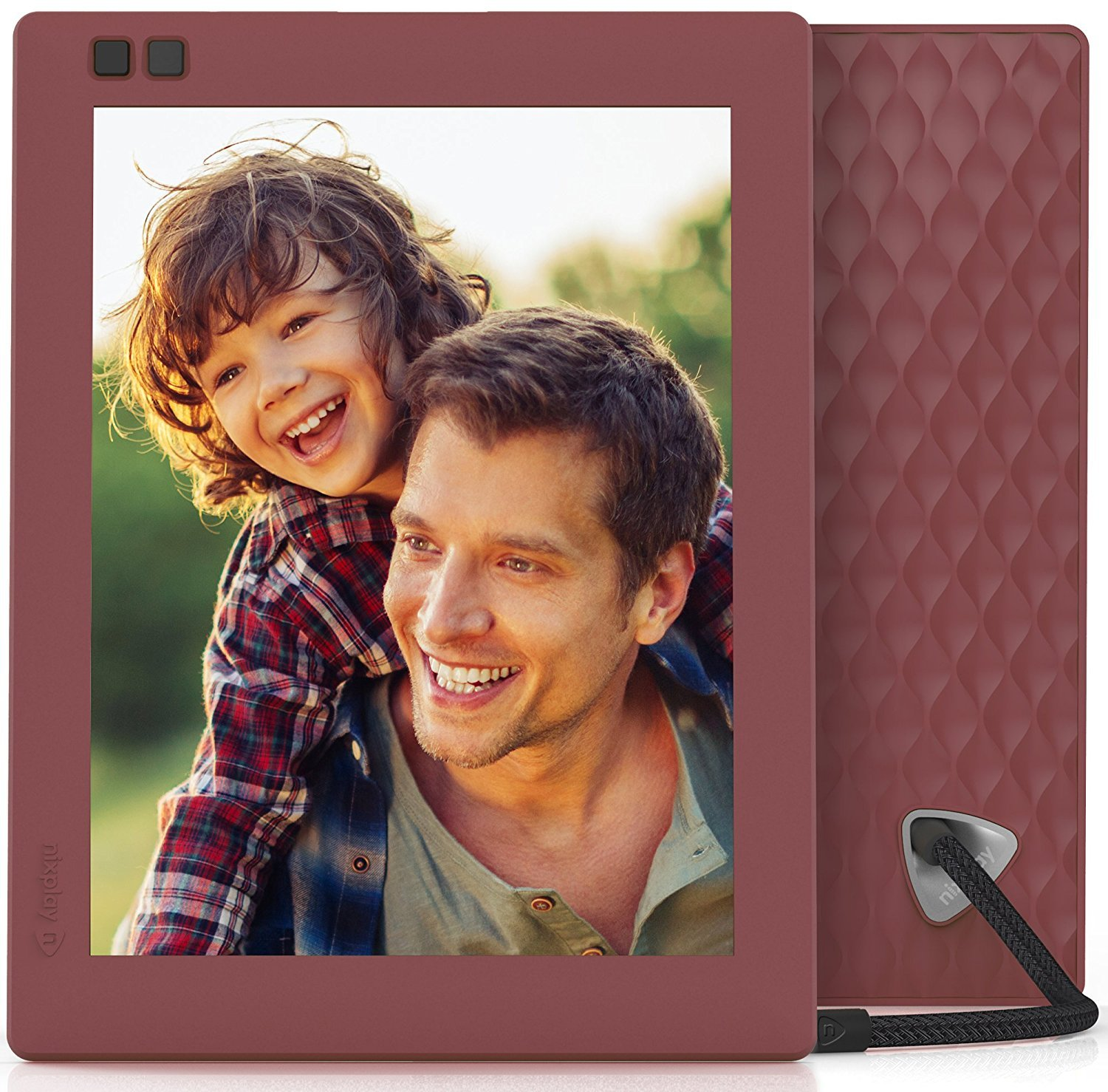 Nixplay Seed 8 inch WiFi Digital Photo Frame - Mulberry by nixplay (Image #3)