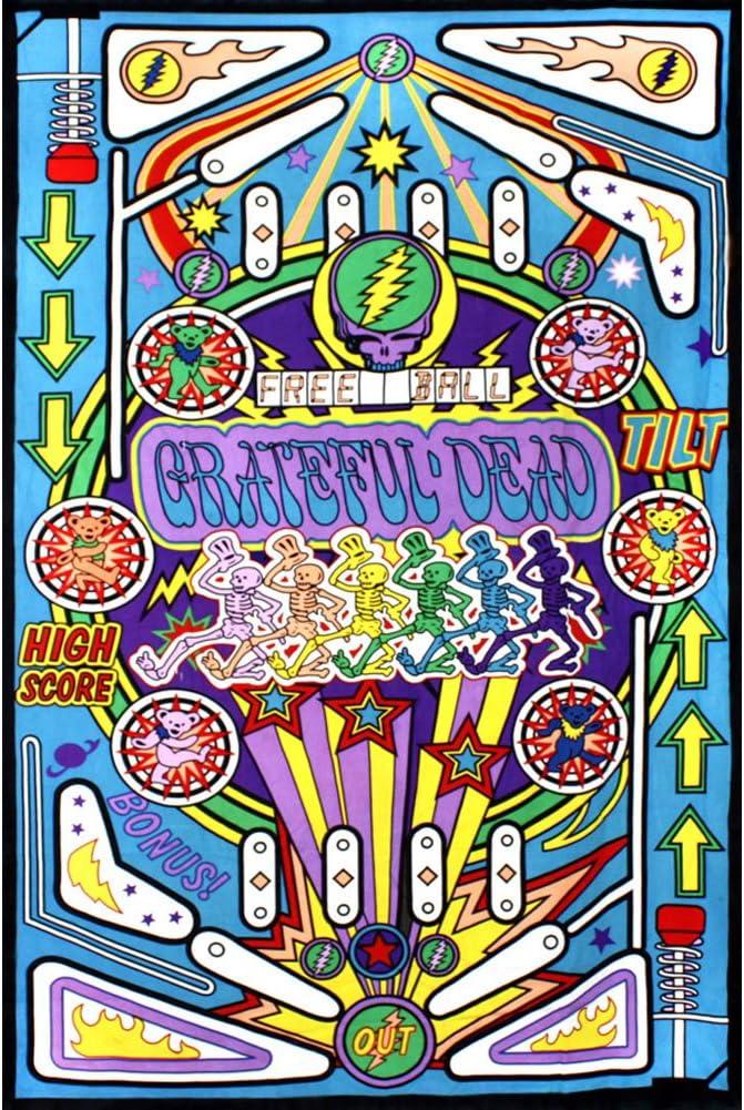 Sunshine Joy 3D Grateful Dead Mini Tapestry Pinball Machine Wall Art 30x45 Inches