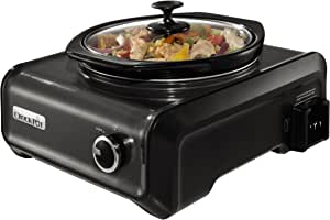 Crock-Pot SCCPMD2-CH Hook Up Connectable Entertaining System, Round 2-quart, Metallic Charcoal