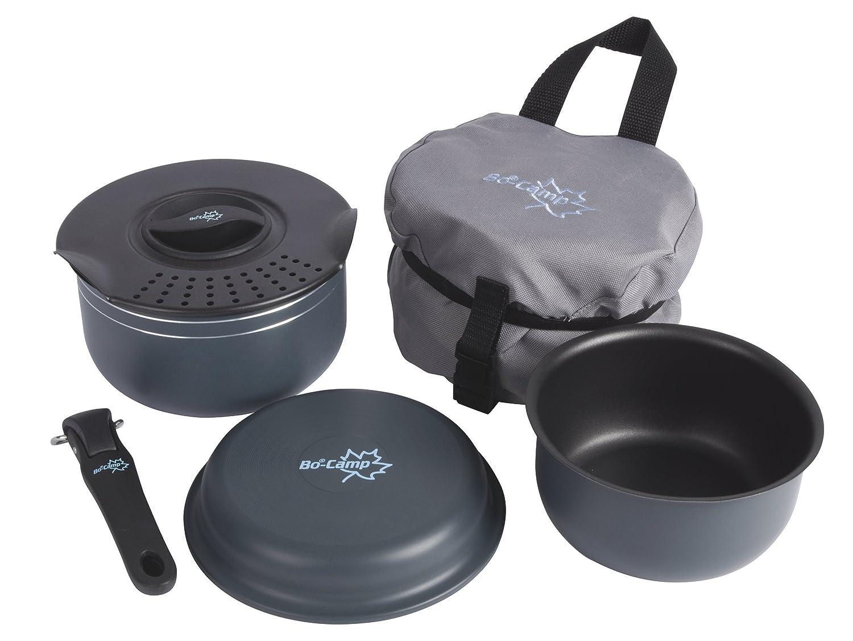 Bo-Camp Trekking Set de Cocina de 5 Piezas con Recubrimiento de Aluminio