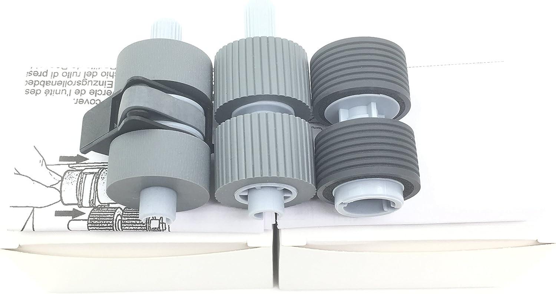 OKLILI PA03338-K011 PA03576-K010 PA03338-K010 Pick Pickup Roller Brake Roller Compatible with fi-6770 fi-6670 fi-6770A fi-5750C fi-5650C fi-5750 fi-5650 fi-6750 fi-6750S