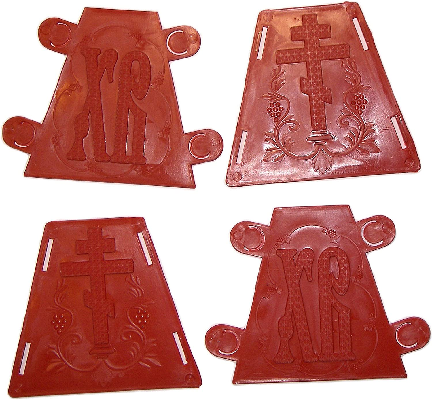 Set 2 Plastic mold Orthodox Easter Cheese Russian Tvorog Paskha Form Hight 4.5 and 6.3