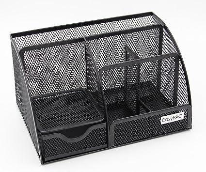 amazon com easypag mesh office supplies desk organizer caddy 6 rh amazon com mesh desk organizer staples mesh desk organizer with sliding drawer black