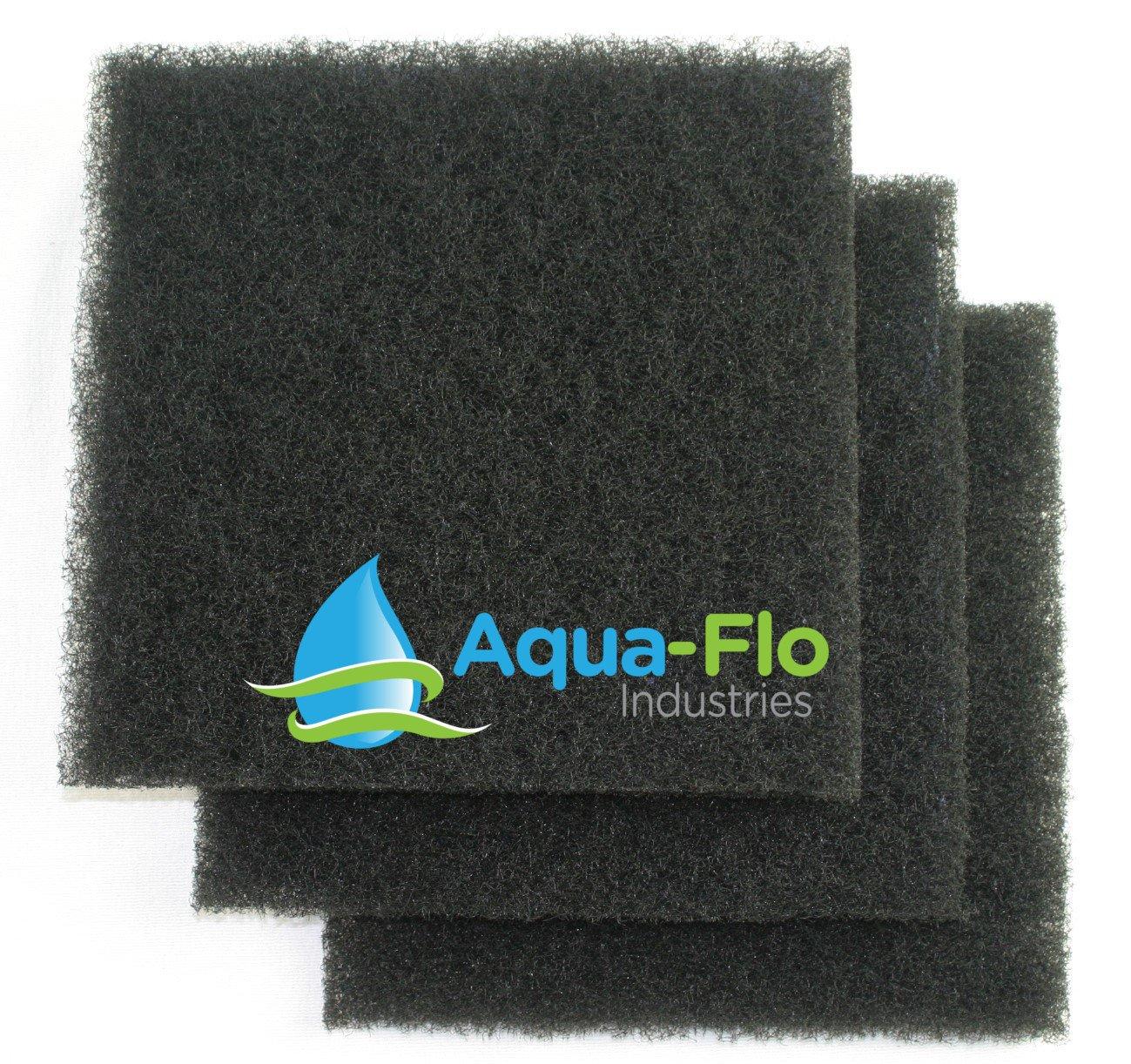12''x 12''x 1.25'' (3 Pack) Aqua-Flo Coarse Black Universal Pond Filter Mat by Aqua Flo (Image #1)