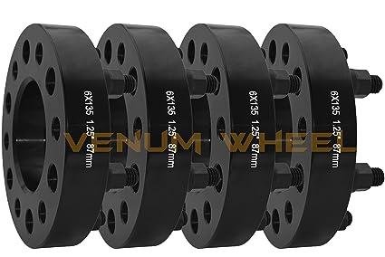 Amazon Com New Black Hub Centric Wheel Spacers 2015 2018 1 25