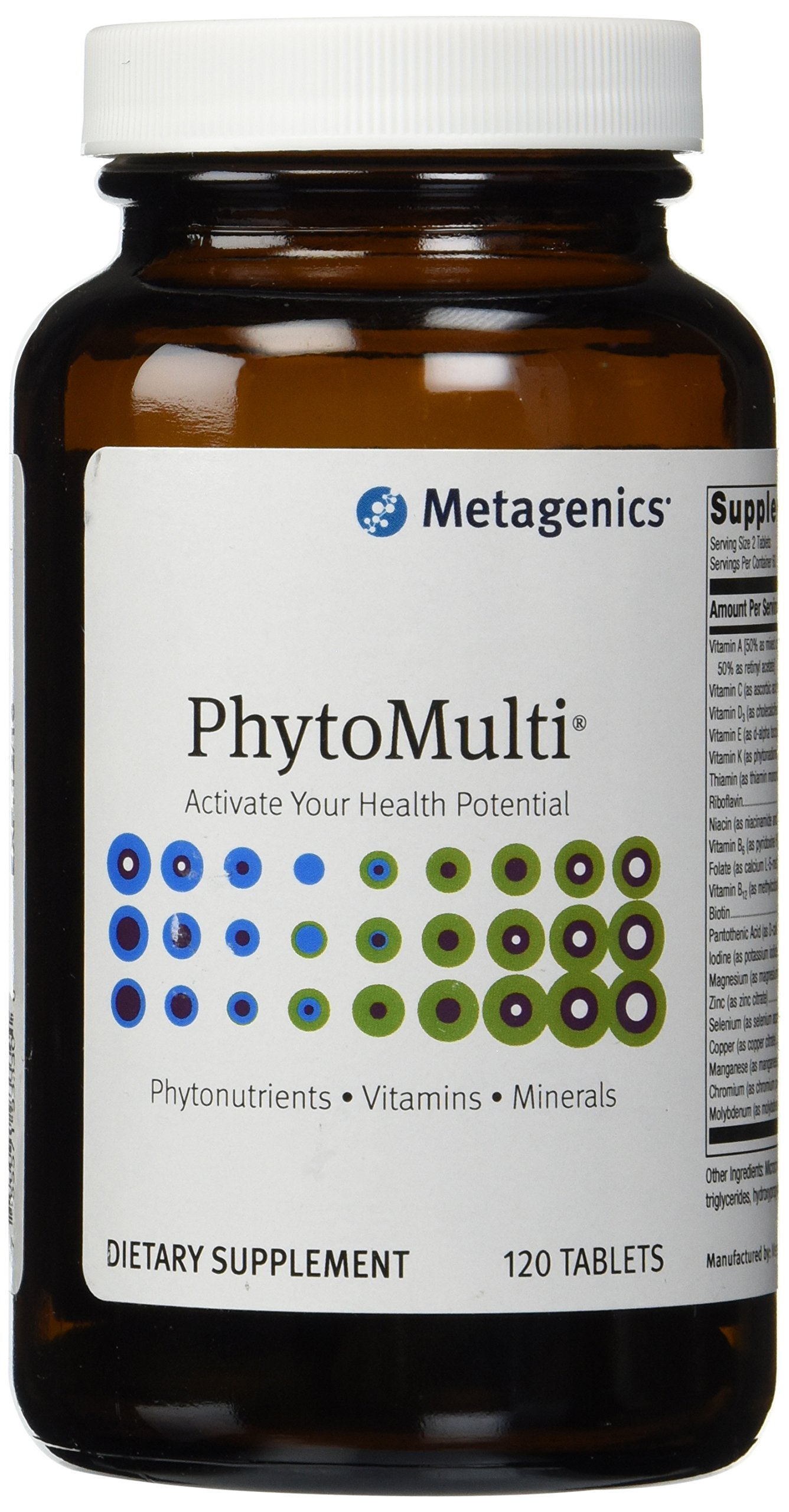 Metagenics - PhytoMulti without Iron 120 Tablets- 2 Pack