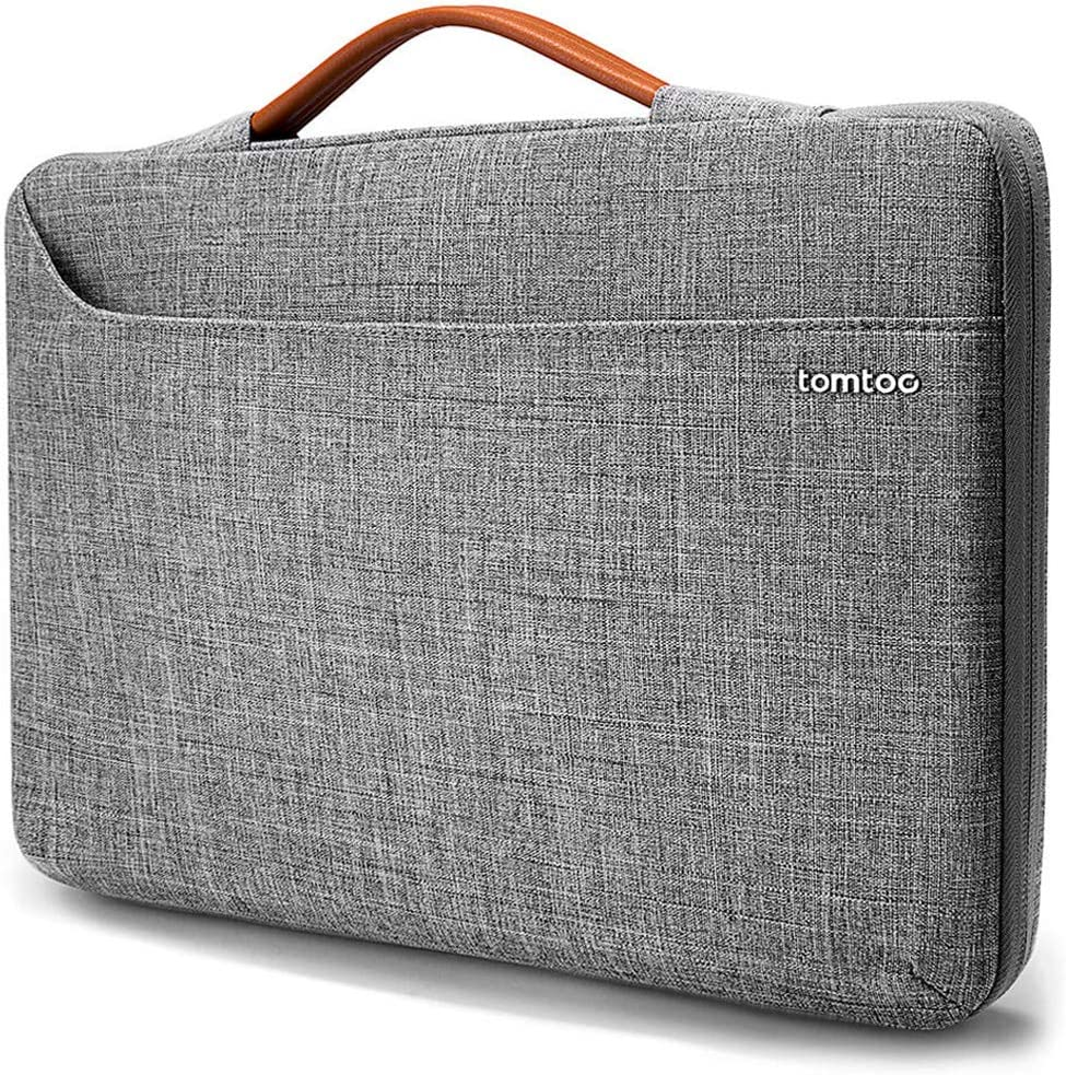 tomtoc 360 Protective Laptop Sleeve for 13-inch MacBook Air with Retina Display A2179 A1932, MacBook Pro with USB-C A2251 A2289 A2159 A1989, 12.9 iPad Pro (3/4 Gen), Spill-Resistant Laptop Case