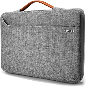 tomtoc 14 Inch Laptop Bag Sleeve for 15-inch MacBook Pro with USB-C A1990 A1707, 15 Inch Surface Laptop 3, 14 ThinkPad X1 Yoga (2/3rd Gen), Waterproof Protective Case for HP Acer Dell Chromebook 14